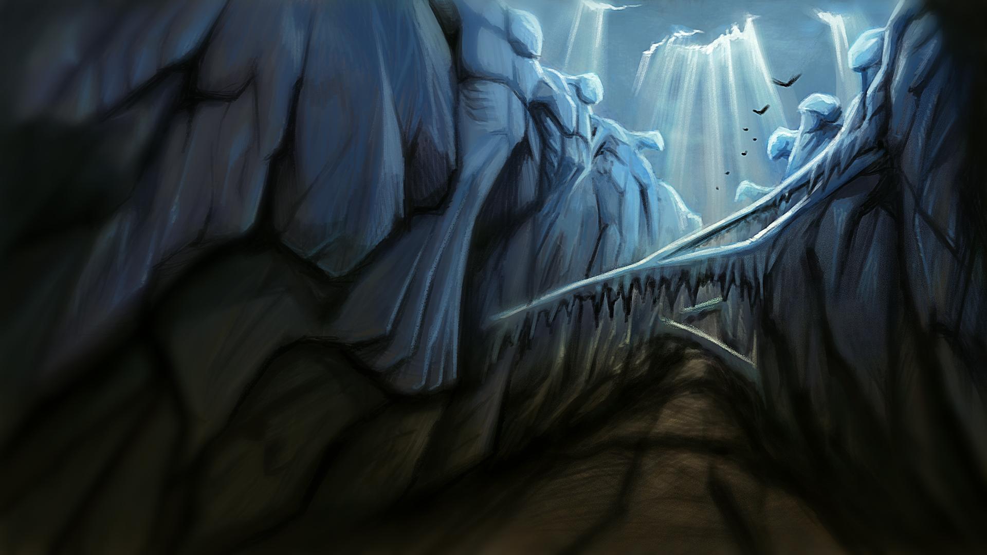 Concept art - Jötunheimr canyon